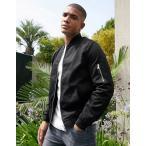 ナイキ ジャケット メンズ エイソスセレクト アウター コート ブラック Nike AV15 Padded Jacket With Hood In Black バイカー アメリカンイーグル