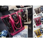 ショッピングプールバッグ ビーチバッグ レディース 防水バッグ ポーチ付 クリア トートバッグ ビニールバッグ プールバッグ