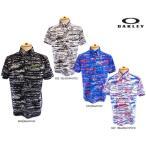 2017 夏 オークリー【OAKLEY】メンズ2017年春夏 半袖プリントボタンダウンシャツBark Blind Terra Shirts433954JP 10077713