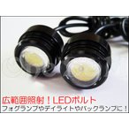 LEDボルト 青白 B級 フォグランプ デイライト バックランプ等に [D-5-3ーB×2]