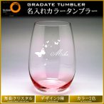グラス 名入れ(名前入りプレゼント) タンブラー 誕生日 還暦祝い 古希祝い ホワイトデー に(カラー2色/オシャレな無鉛クリスタル製/ギフトBOX付)gl-0002
