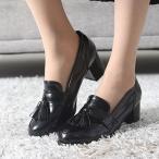 ショッピング パンプス レディース ローファー タッセル 太ヒール 2017 秋 ファッション 靴 婦人靴