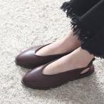 ショッピングフラット フラットシューズ レディース ペタンコ スリングバック 2017 秋 ファッション 靴 婦人靴