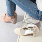 走れるパンプス レディース Tストラップ チャンキーヒール 太ヒール スエード調 ファッション 靴 婦人靴