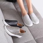 スリッポン シンプル スニーカー ファッション レディース 靴 30代 40代