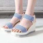 ショッピングウェッジソール サンダル レディース 厚底 ウェッジソール 2017 春 ファッション 靴 婦人靴