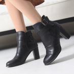ブーティ ブーティー 太ヒール アンクルベルト ブーティ レディース 秋 ファッション レディース 靴 婦人靴 30代 40代