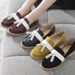 ショッピングフラット フラットシューズ レディース ローヒール タッセル 2017 秋 ファッション 靴 婦人靴