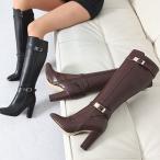 ショッピングロングブーツ ロングブーツ ブーツ レディース 秋 ファッション 靴 婦人靴 チャンキーヒール 太ヒール