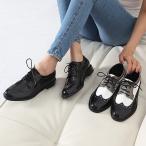 秋新作 ローファー レースアップ 秋 レディース 30代 40代 ファッション ウイングチップ マニッシュ おじ靴