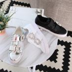 スニーカー レディース ビジュー 2017 秋 冬 ファッション 靴 婦人靴