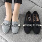 ショッピングフラット フラットパンプス レディース ペタンコ ビジュー 2017 秋冬 ファッション 靴 婦人靴