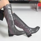 ショッピングロングブーツ ロングブーツ 太ヒール ローヒール シンプル ブーツ レディース 秋 ファッション レディース 靴 婦人靴 30代 40代