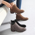 ショートブーツ スエード調 ローヒール ブーツ レディース 2016 秋 ファッション レディース 靴 婦人靴 30代 40代