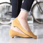 ショッピングローヒール オールデイウォーク パンプス 靴 レディース ローヒール スエード ポインテッドトゥ 走れるパンプ