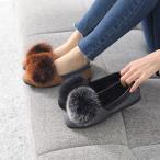 ショッピングフラット フラットヒール レディース ペタンコ スエード調 裏起毛 2017 秋冬 ファッション 靴 婦人靴