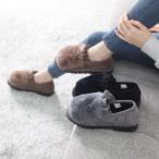 ショッピングフラット フラットシューズ レディース ペタンコ スエード調 裏起毛 2017 秋冬 ファッション 靴 婦人靴