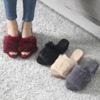 サンダル レディース ミュール フェイクファー ウェッジソール 2017 秋冬 ファッション 靴 婦人靴
