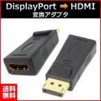 DisplayPort → HDMI 変換コネクタ ディスプレイポート hdmi (オス) → HDMI(メス)変換アダプター