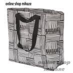 IKEA/イケア FISSLA フィスラ バッグ ホワイト/ブラック Mサイズ