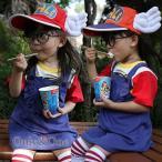なりきり Dr.スランプ アラレちゃん風 コスプレ衣装 子供5点セット キッズ コスチューム パーティー ハロウイン変装