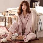 パジャマ 春 秋 長袖 パジャマ女 綿 可愛い パジャマ 女性 オシャレ 可愛い 部屋着 女性パジャマ