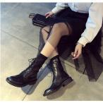 ブーツ レディース レースアップブーツ ショートブーツ レディース ブーツ 編み上げ ヒールブーツ ショート丈 黒 靴 くつ 秋 冬 美脚 歩きやすい