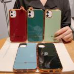 iphone11 ケース 韓国 フチゴールドラインミニハート ケース かわいい 個性的おしゃれ iPhoneSE2 iPhone7 iPhone8 iphoneX iphoneXs iPhoneXR 11Pro