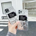 iphone11 ケース 韓国 TPU ホログラムアルミクリアケース 透明 シンプル 大人 かわいいおしゃれ iPhoneSE2 iPhone7 iPhone8 iphoneX iphoneXs iphoneXR 11Pro