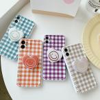 iPhoneSE2 携帯 スマホ ケース 韓国 TPU ぷっくりハートスマイルグリップ付きケース グリップトック iPhone7 iPhone8 iphoneX iphoneXs iphoneXR 11Pro 11ProMAX