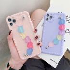 iphone11 携帯 スマホ ケース 韓国 TPU シンプル カラフルチェーン付き ケース 傷防止 お揃い カバー iPhone SE2 7 8 X Xs XR 11 11pro