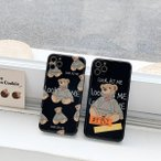 iphone11 携帯 スマホ ケース 韓国 TPU シンプル ストリート系クマ アニマル ケース 傷防止 お揃い カバー iPhone SE2 7 8 X Xs XR 11pro 11promax
