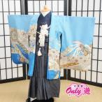 七五三 袴 和がまま  男の子 着物 レンタル 3歳 袴セット 子供 ブルー  03-582MR