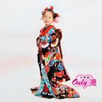 舞妓 MAIKO PRINCESS 女の子 7歳 四つ身 JAPAN STYLE 子供 着物レンタル帯セット 7-242IM