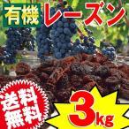 オーガニック 有機 ドライフルーツ レーズン (アメリカ産) 3kg (1kg×3袋) 有機栽培 送料無料