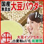 大豆粉 パウダー 国産 1kg(1000g)  送料無料 イソフラボン 豆乳 メール便限定⇒送料0円 おから