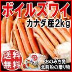 (カニ かに 蟹) カニ かに 送料無料 ズワイガニ 中サイズ2kg(約6?12肩前後入) (足折れ 脚折れ 折れ)鍋セット 蟹(G)