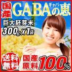玄米 (米 お米)0.3kg gABAの恵 国産 巨大胚芽米 ギャバ 300g 玄米 白米モー ドで炊ける 送料無料 国内産100% スーパーフード