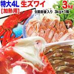 (カニ かに 蟹)  カニ 生 ズワイガニ 4L 3kg(9肩) 鍋セット 送料無料 加熱用