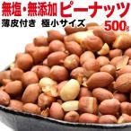 ピーナッツ ナッツ 無塩 無添加 500g 薄皮付き 極小粒 低gI値食品(わけあり 訳あり) 送料無料 メール便限定 落花生 グルメ