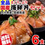 まぐろ漬け ぶり漬け 国産 海鮮丼 6食セット OITA30CP_2020_魚介肉 大分県産 長崎県産 ギフト プレゼント 簡単便利 送料無料