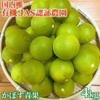 有機JAS認証 大分県産無農薬カボス青果4kg(およそ40個前後)  季節限定 大分有機かぼす農園 送料無料