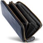 [男のブライドルレザー本革長財布] ブライドルレザー ラウンドファスナー 長財布 内装外装本革 2カラー メンズ 財布 [GRACIA] グラシア (