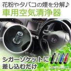 空気清浄機 車載 シガーソケット に差すだけ タバコ マイナスイオン 空気清浄 車載用 車用 カー用品 カーアクセサリー 花粉 コンパクト|ER-IOAC
