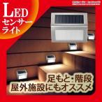 ソーラーライト 充電式 LED センサーライト 光センサー 自動点灯 壁付け LEDセンサーライト 防滴仕様 ガーデン ライト ソーラー 屋外 玄関 庭 照明|ER-SNLED