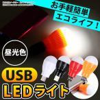 LEDデスクライト LEDライト 昼光色 USB接続 モバイルバッテリーと組み合わせると携帯ライトに変身 カンタン接続 USBライト 軽量 コンパクト   ER-ULED3  ホワイト