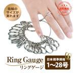リングゲージ 指輪 サイズ 測る道具 こっそり 測定 1号〜28号 プレゼント ギフト 記念日 誕生日 ジュエリー レディース メンズ アクセサリー