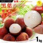 フレッシュ台湾ライチ 黒葉(約1kg)台湾産 生ライチ 送料無料