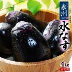 泉州水なす C/無印 訳あり(約4kg)大阪産 泉州の伝統野菜水茄子 送料無料