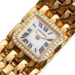 カルティエ Cartier ミニリュバン クォーツ 金無垢 ダイヤベゼル シェル レディース 腕時計(中古)